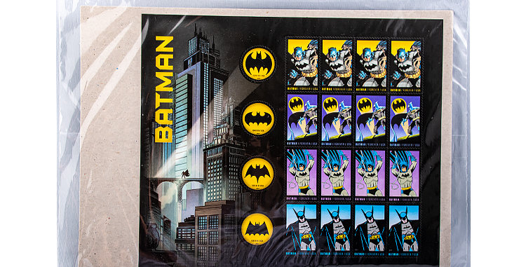 Stamp USPS Batman 2014