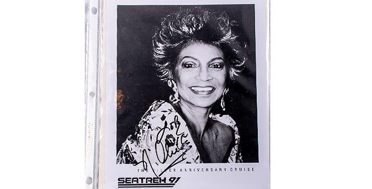Autograph of Nichell Nichols who played Lt. Uhura