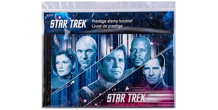 Canada Post Star Trek Stamps Prestige Stamp Booklet Captains