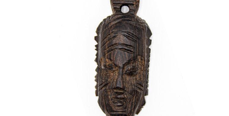 copy of copy of Native Mask Wood Small Pendant Ornament