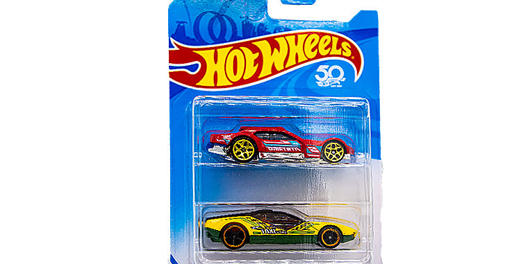 Hot Wheels 50 th Anniversary 2 Car Set