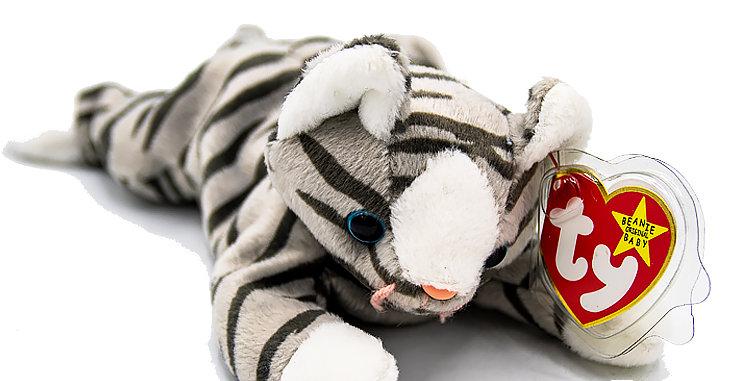 Beanie Babies Blizzard the White Tiger Beanie Baby