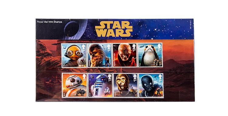 Stamps Star Wars  8 stamp Sheet  Royal Mail UK England