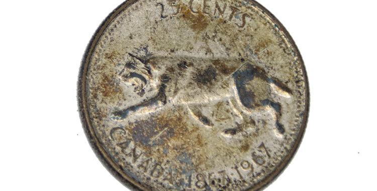 Canada 25 Cents Silver 1967