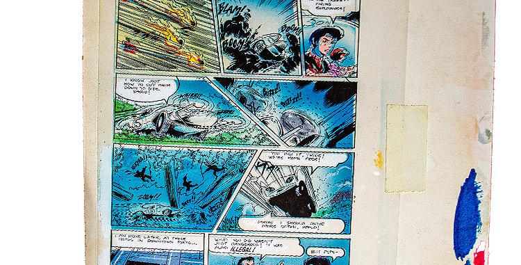 Sci-Fi Speedracer Original Comic Artwork