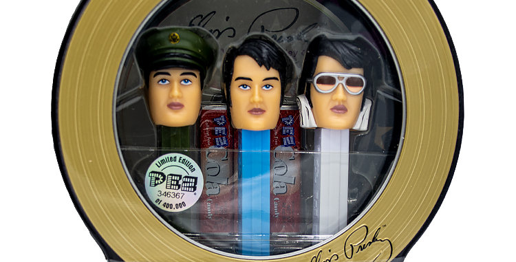 Music PEZ Elvis 3 pack comes with Elvis CD