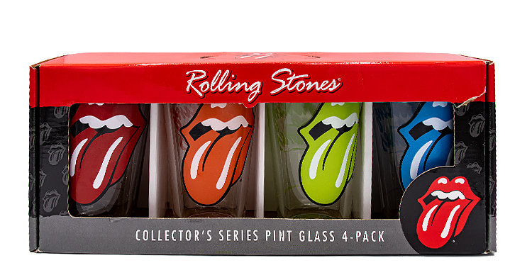 Music Rolling Stones  Pint Glass 4 Pack
