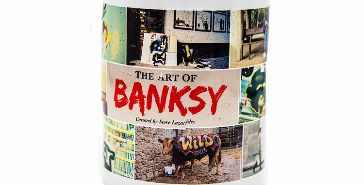 Glassware Banksy Exhibit Souvenir Mug from theThe Art of Banksy Exhibit 2018