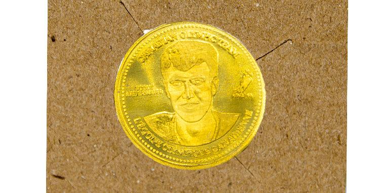 Coin Olympic Coke Hockey Scott Niedermayer