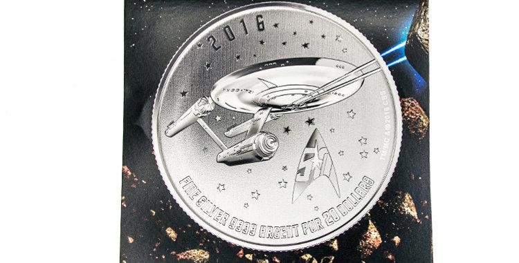 Coin Canada Star Trek Silver 20.00 Coin