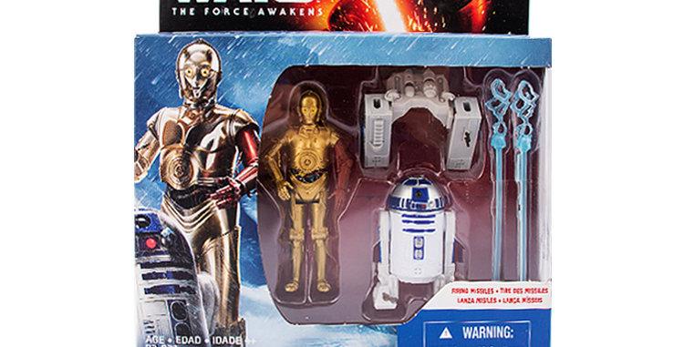 R2D2 C3P0 Set The Force Awakens