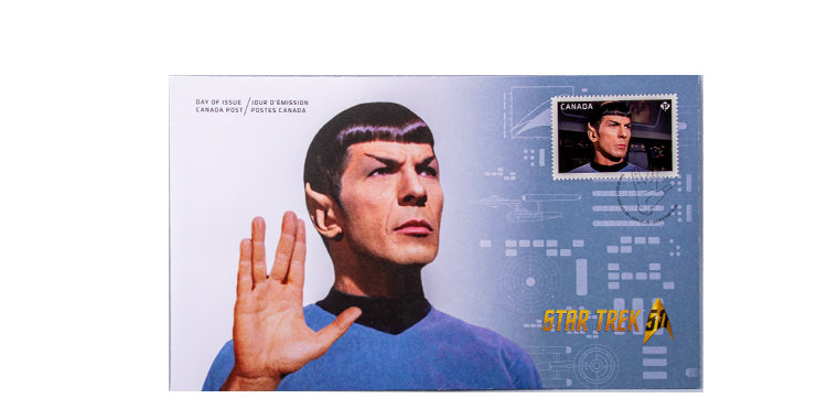 Stamp Canada Post Star Trek First Day Cover Spock