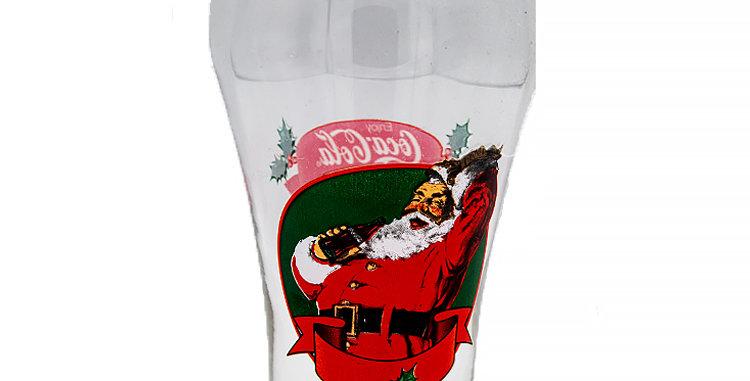 Coca Cola Coke Santa Glass