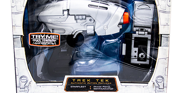 Star Trek Prop Enterprise Starfleet Phaser Pistol and Communicator