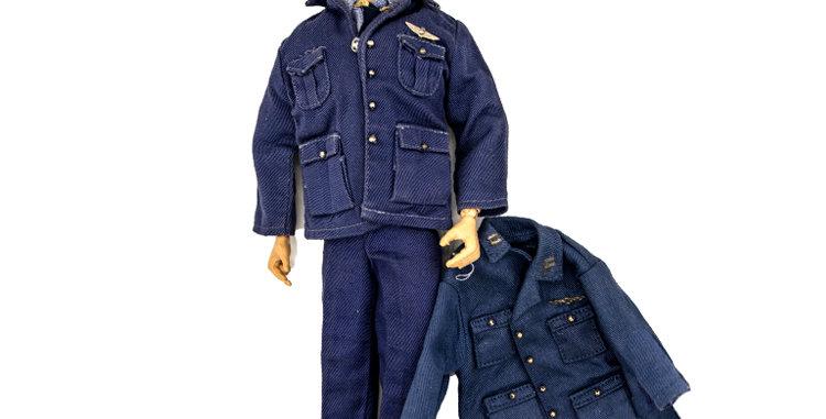 GI Joe Vintage Action Pilot in Blue Service Uniform