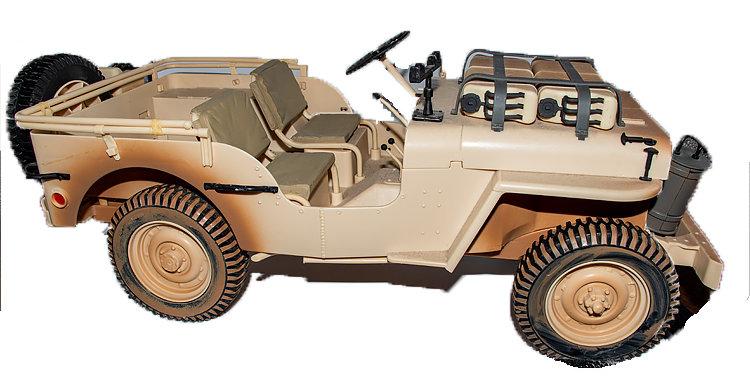 GI Joe 12 inch Jeep Desert Patrol Vehicle Loose