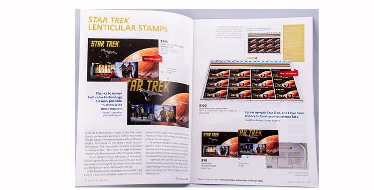 Canada Post Star Trek Stamps Catalog
