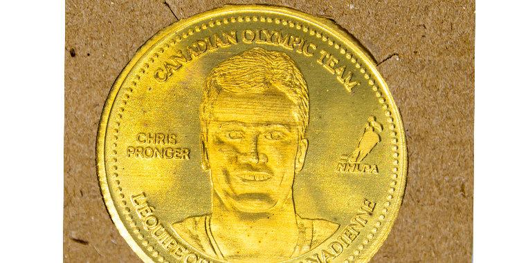 Coin Olympic Coke Hockey Chris Pronger