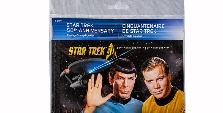 Canada Post Star Trek Stamps Prestige Stamp Booklet