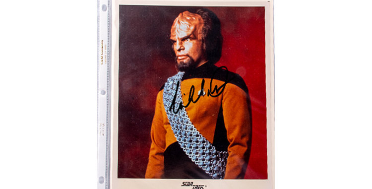 Autograph of Michael Dorn who played Worf