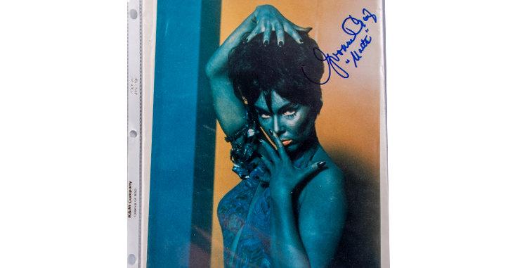 Autograph of Yvonne Craig who play Marta in Star Trek