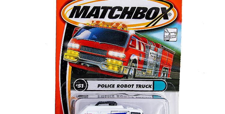Matchbox Police Robot Truck
