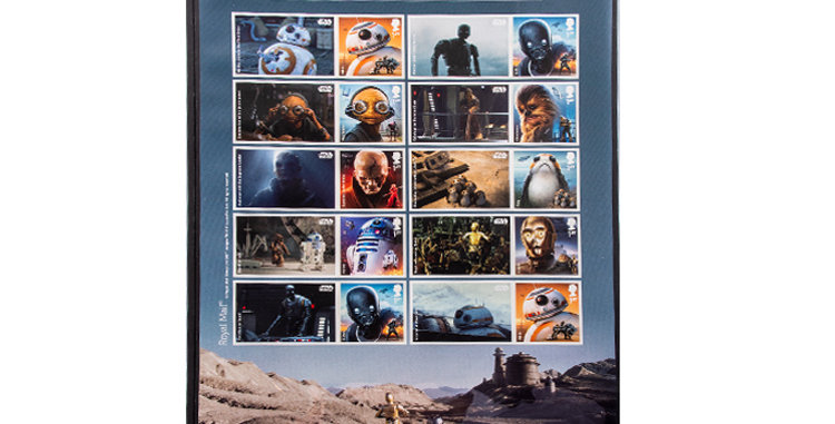 Stamps Star Wars  Droids Aliens and Creatures  Royal Mail UK England