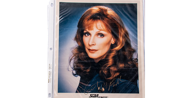 Autograph of  Cheryl Gates McFadden  who played Dr. Crusher