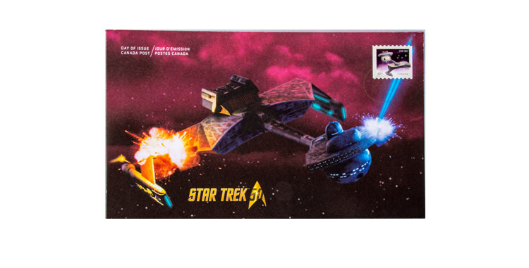 Stamp Canada Post Star Trek First Day Cover Klingon Crusier