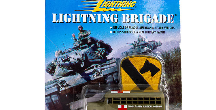 Johnny Lightning Lightning Brigade Bus