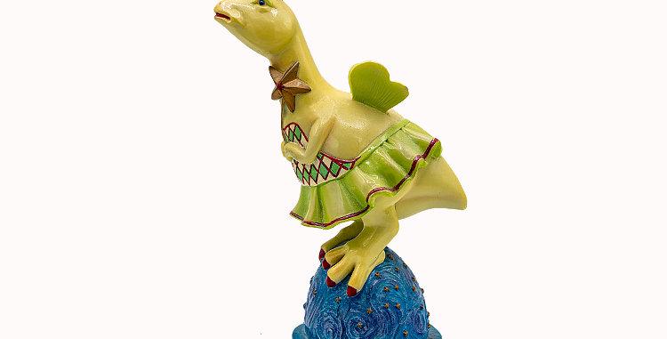 Dino Days Ballerina Dino Porcelain Figurine