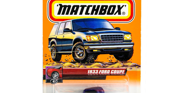 Matchbox Cars 1933 Ford Coupe Marked 1999