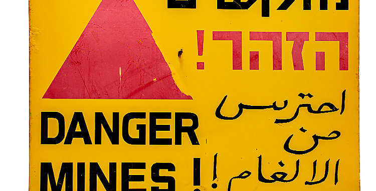 Danger Mines Battlefield Warning Sign