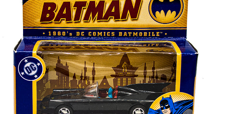 copy of Batman 1960s Batmobile Corgi Toys