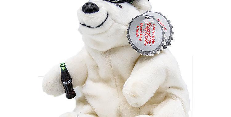 Coca Cola Coke Bear Boy with Peak Cap
