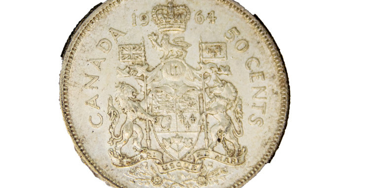 Coin Canada1964 50 Cent Piece