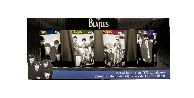 Beatles Photo Glass Set of 4 Glasses