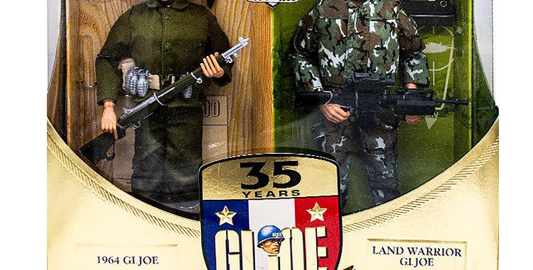 GI Joe 35 th  Anniversary  12 Inch 1964 GI Joe and Land Warrior GI Joe