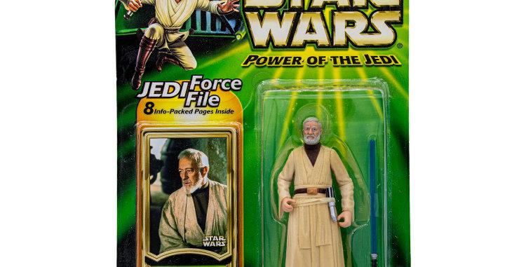 Star Wars 3.75 Inch Carded Obi Wan Power of the Jedi