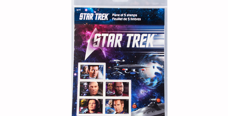 Canada Post Star Trek Stamps the Captains Version B