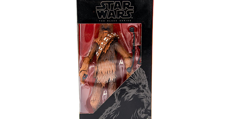 Chewbaccka Black Series Package marked #5 In Series