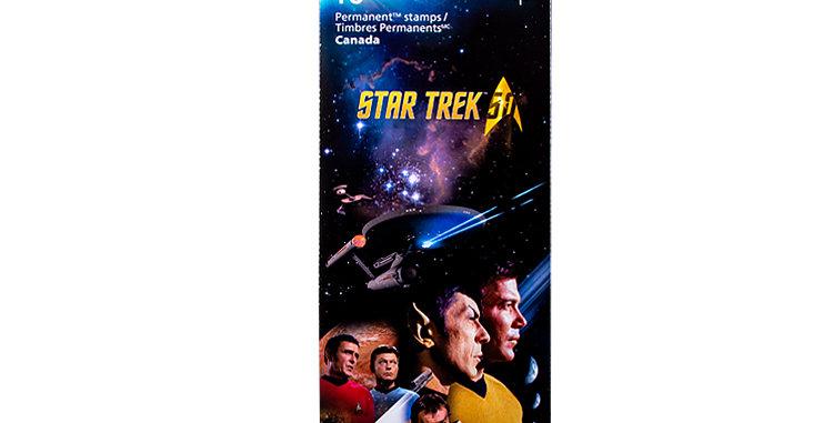 Canada Post Star Trek Stamps Book of 10