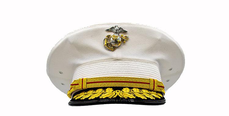 Peak Cap USMC  Dress Blues General Hat