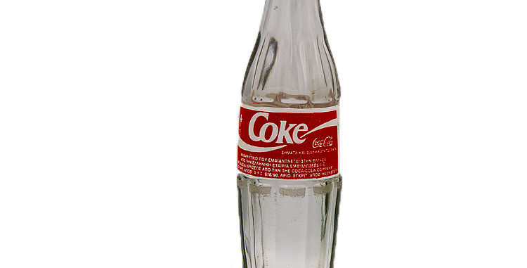 Coca Cola Coke Glass Bottle from Greece