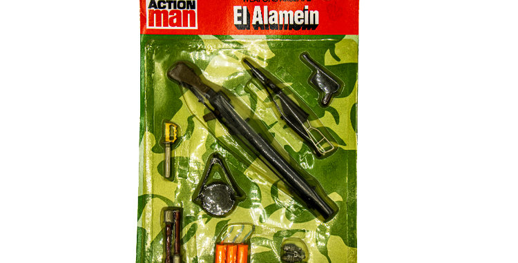 GI Joe Vintage Action Man El Alamein Weapons Carded
