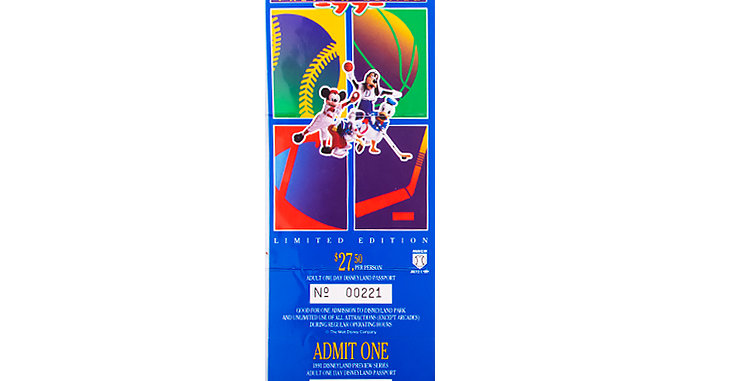 Disneyland 1991 Ticket Limited Edition