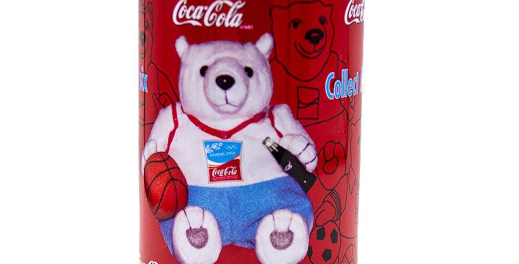Coca Cola Coke Bears in a Coke Can Basketball Bear 2004 Olympics