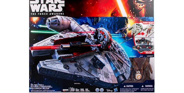 3.75 Inch Millennium Falcon w/Chewbacca, Finn, BB8 The Force Awakens