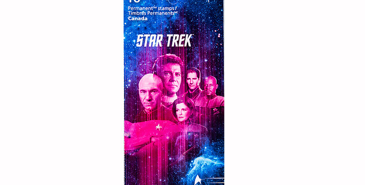 Canada Post Star Trek Stamps the Captains