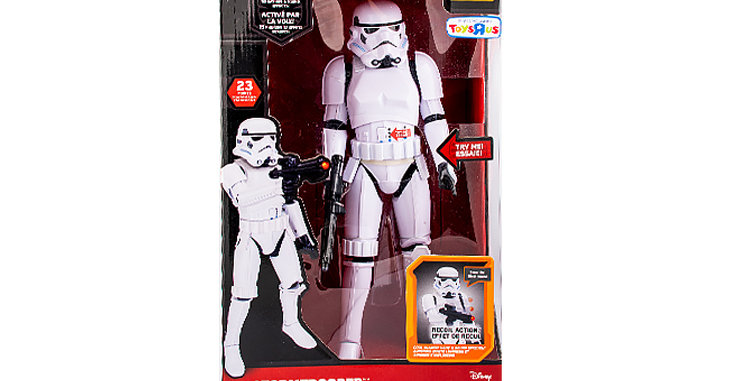 Large Stormtrooper Animatronic  With Try Me Button Toys Are Us Exclusive